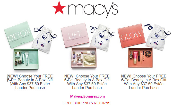 Macy's Free Gifts with Purchase Offers - MakeupBonuses.com
