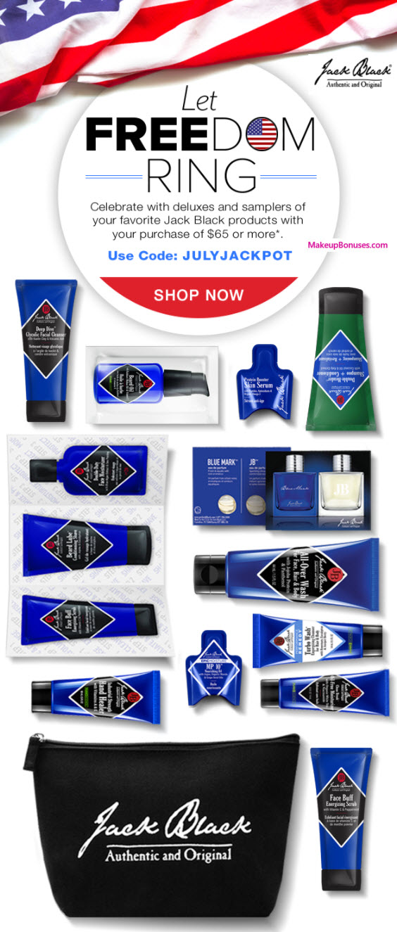 Receive a free 16-pc gift with your $65 Jack Black purchase