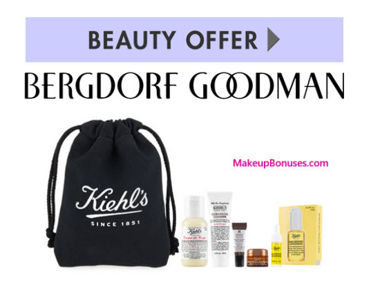 Receive a free 6-pc gift with your $95 Kiehl's purchase