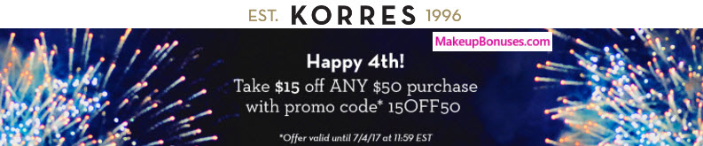 Korres - MakeupBonuses.com