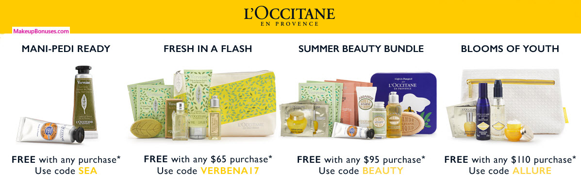 L'Occitane Free Gifts with Purchase - MakeupBonuses.com