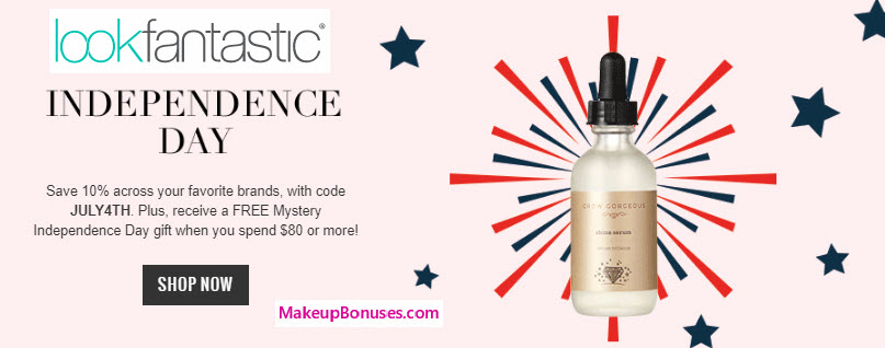 10% Off at Look Fantastic - MakeupBonuses.com