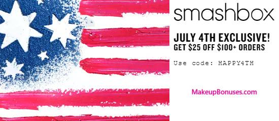 Smashbox $25 Off - MakeupBonuses.com
