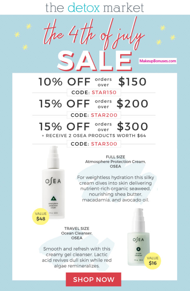 The Detox Market 15% Off - MakeupBonuses.com