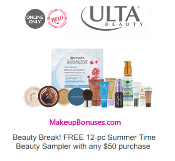 Ulta Free 12-pc Gift with Purchase Offer - MakeupBonuses.com
