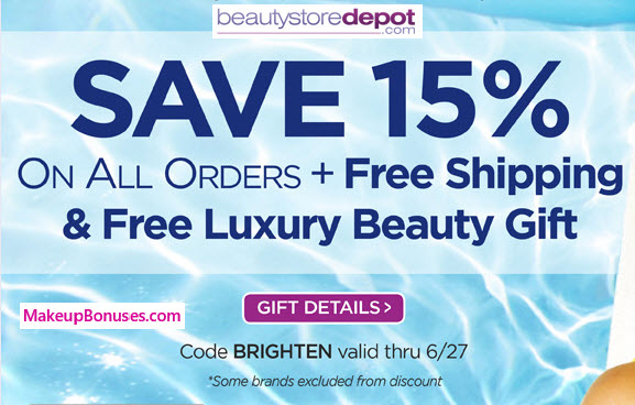 BeautyStoreDepot 15% Off - MakeupBonuses.com