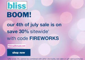 Bliss 30% Off - MakeupBonues.com