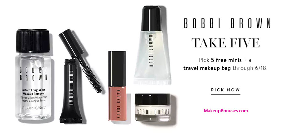 Receive your choice of 5-pc gift with your $50 Bobbi Brown purchase