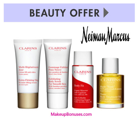 Receive a free 4-piece bonus gift with your $125 Clarins purchase