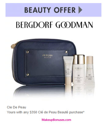 Receive a free 4-pc gift with your $350 Clé de Peau Beauté purchase