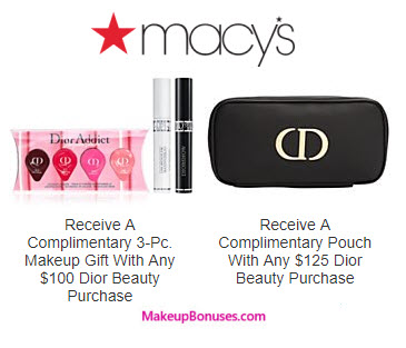 Macy's Free Gift with Purchase Offers - MakeupBonuses.com