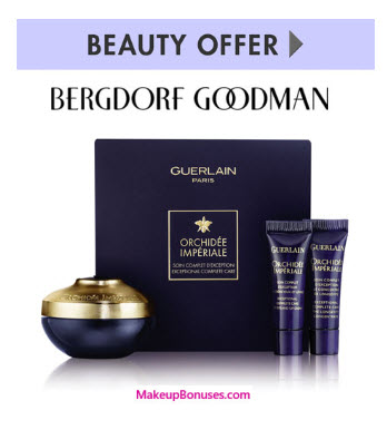 Receive a free 3-pc gift with your $300 Guerlain purchase