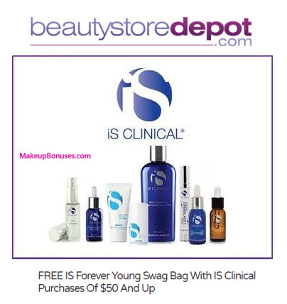 Receive a free 4-pc gift with your $50 iS Clinical purchase