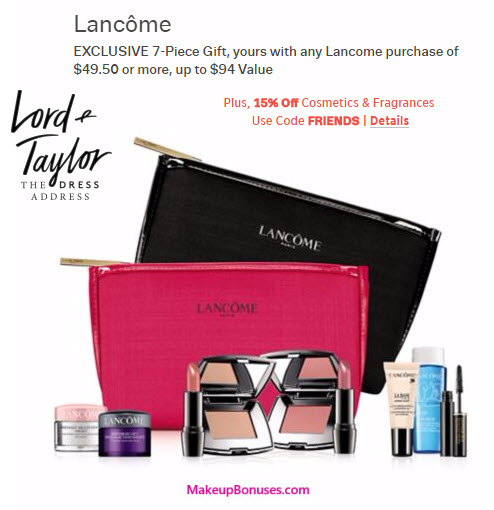 Lord & Taylor Free GWP from Lancôme