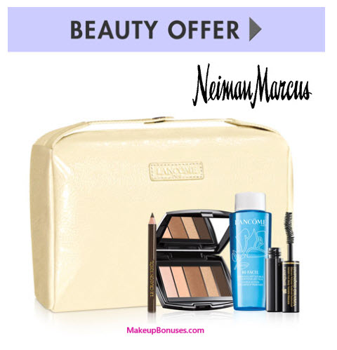 Receive a free 5-piece bonus gift with your $100 Lancôme purchase