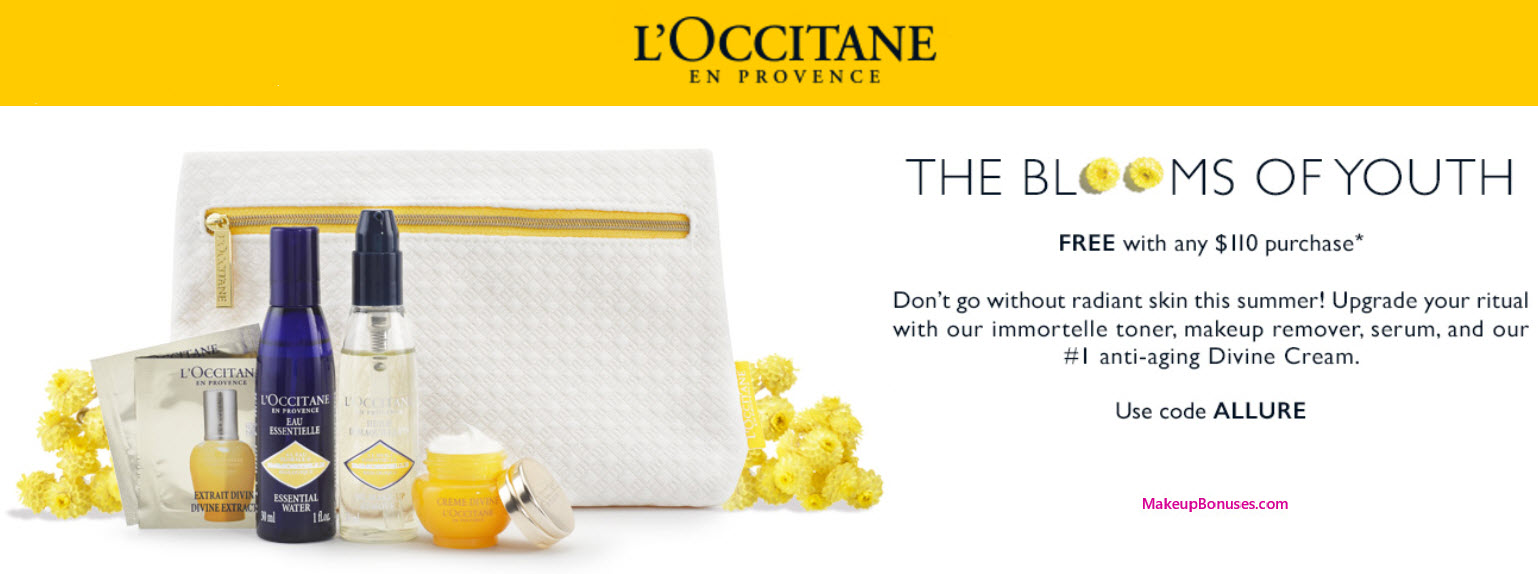 Receive A Free 5 Piece Bonus Gift With Your 110 LOccitane Purchase