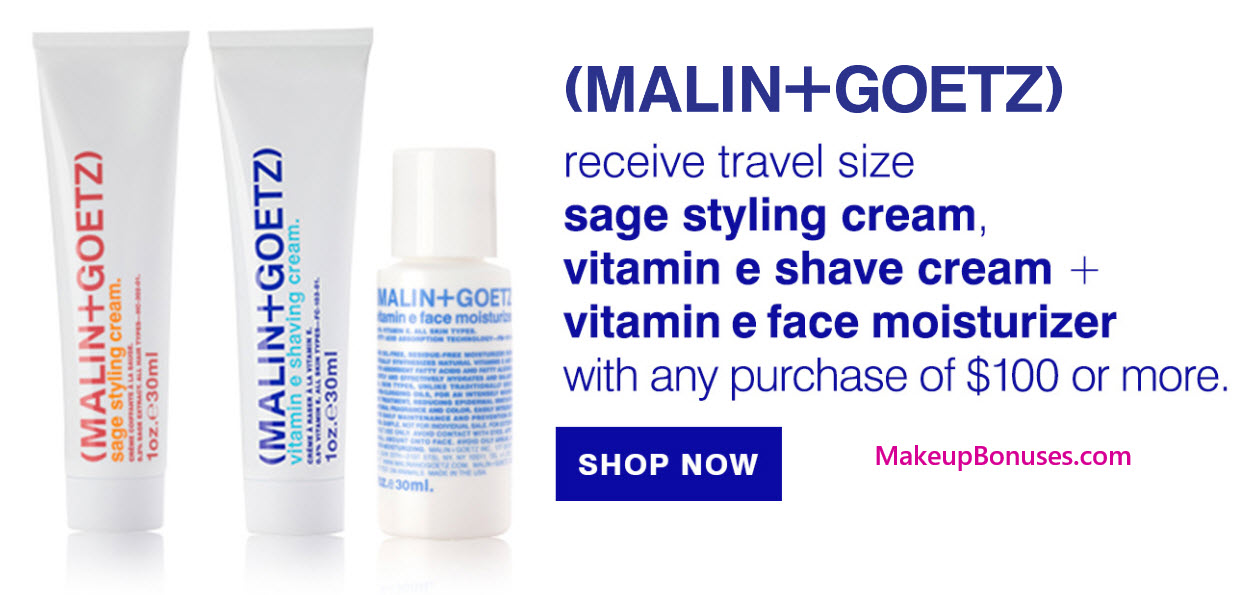 Receive a free 3-pc gift with your $100 Malin + Goetz purchase