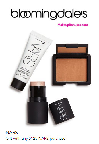 NARS 3-piece Free Gift with Purchase - MakeupBonuses.com