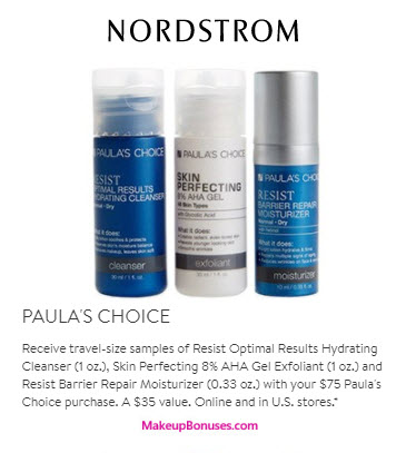 Receive A Free 3 Pc Gift With Your 75 Paula S Choice Purchase