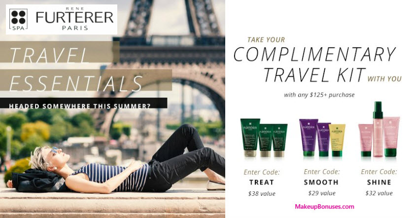 Receive your choice of 3-pc gift with your $125 René Furterer purchase