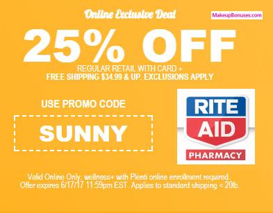 rite aid 25% discount