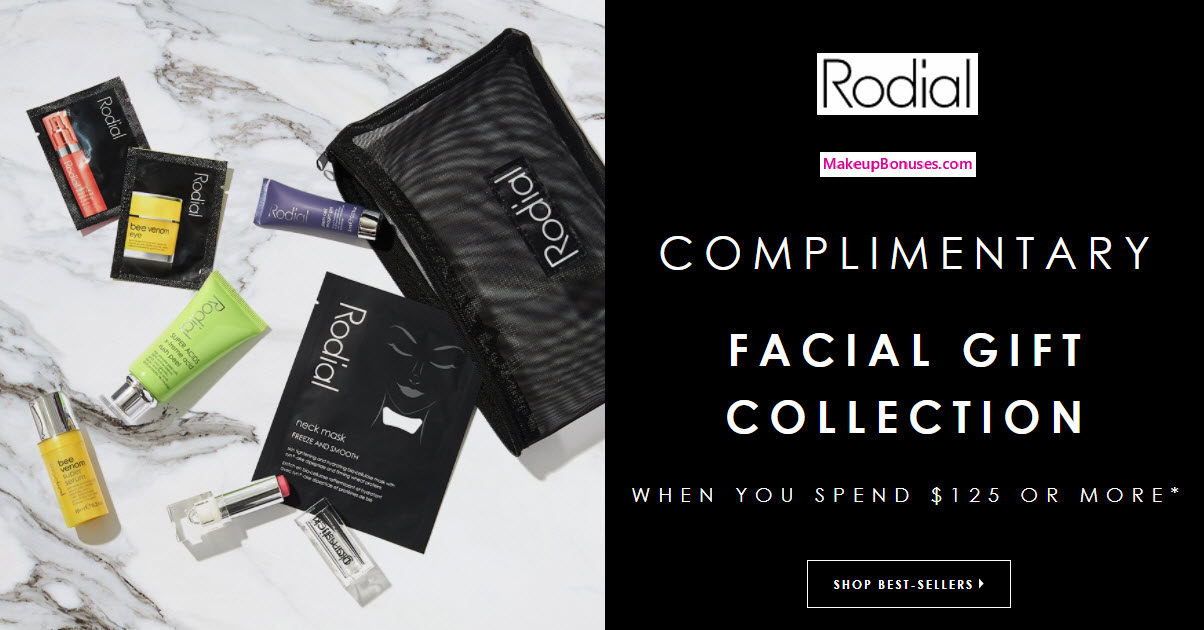 Receive a free 7-pc gift with your $125 Rodial purchase