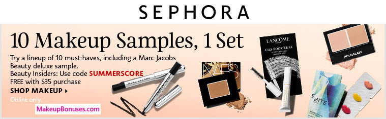 Receive a free 10-pc gift with your $35 Multi-Brand purchase
