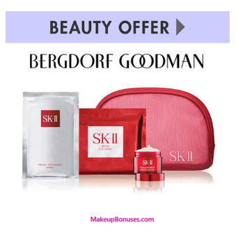 Receive a free 4-pc gift with your $300 SK-II purchase