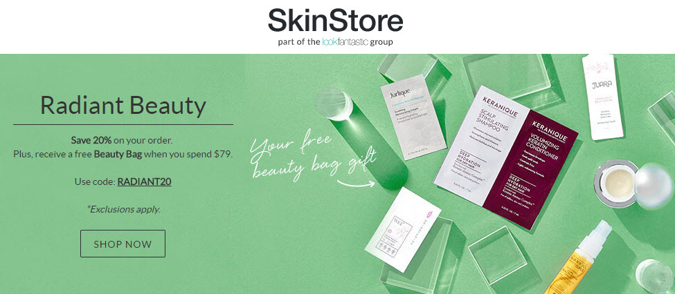 Free Mio Skincare Glow Goals Gift when you spend $60.