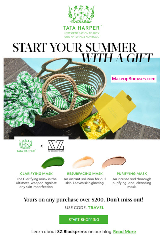 Receive a free 4-pc gift with your $200 Tata Harper purchase