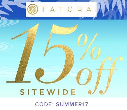 tatcha 15% off discount