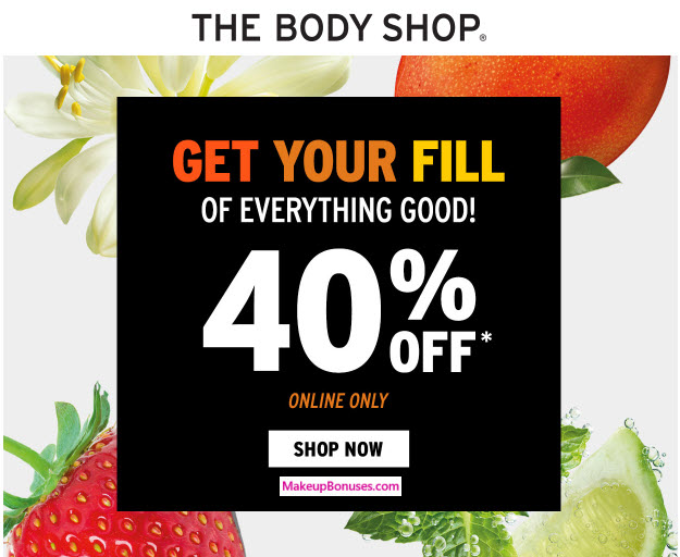 The Body Shop 40% Off