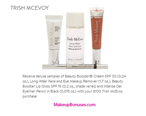 Receive a free 4-pc gift with your $100 Trish McEvoy purchase