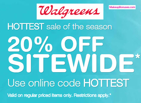 walgreens 20% off sitewide