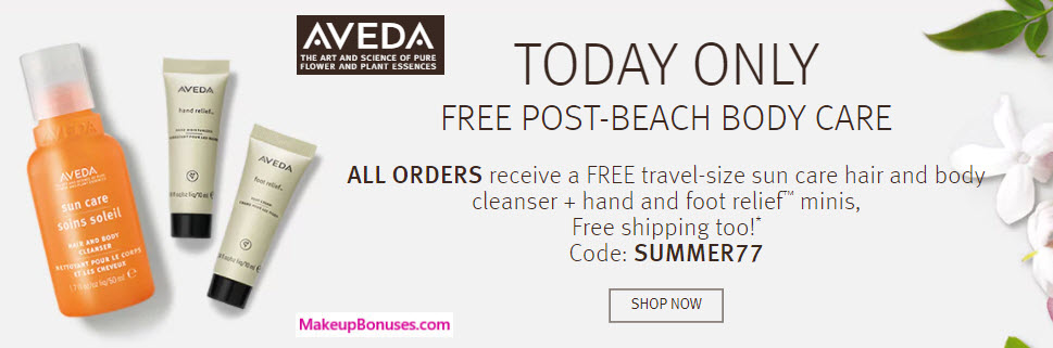 Discount coupons for aveda