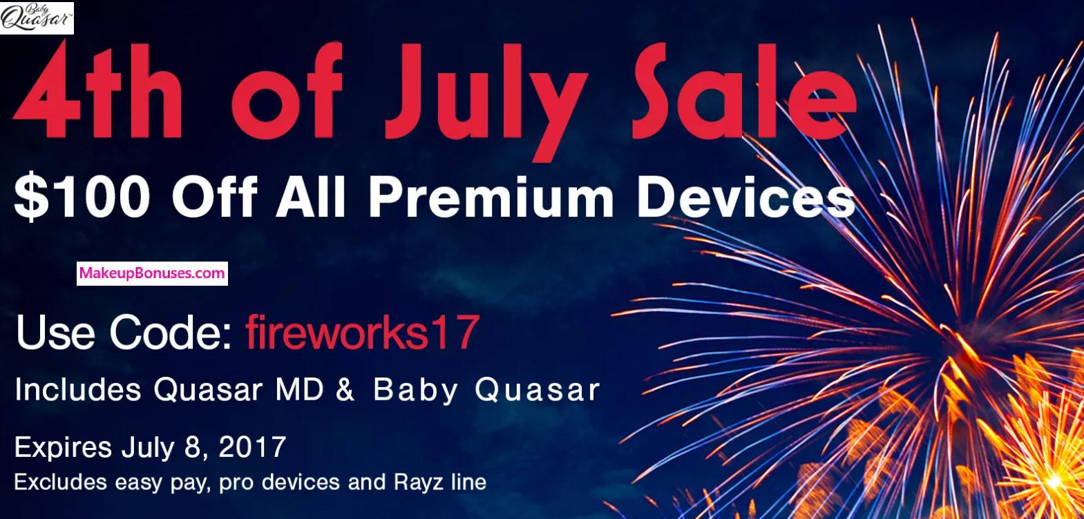 Baby Quasar $100 Off - MakeupBonuses.com