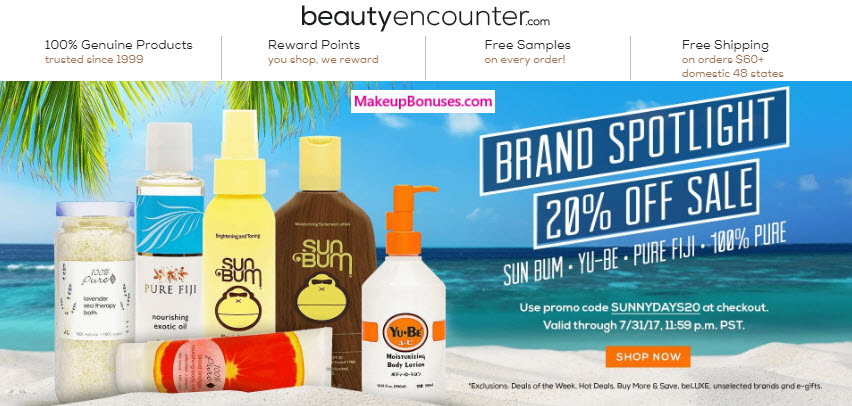 Beauty Encounter 20% Off - MakeupBonuses.com