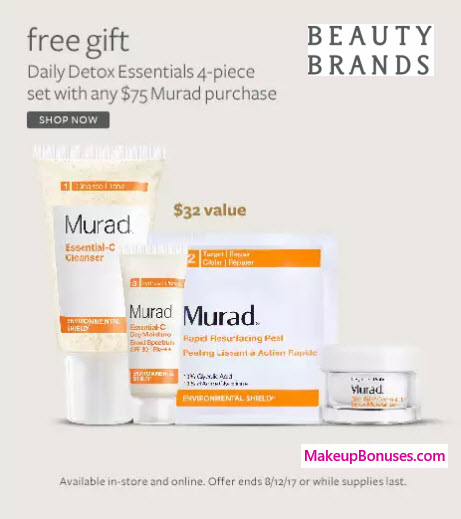 Receive a free 4-pc gift with your $75 Murad purchase