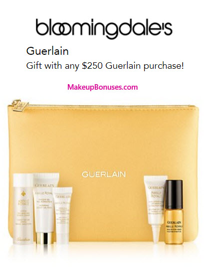 Receive a free 6-pc gift with your $250 Guerlain purchase