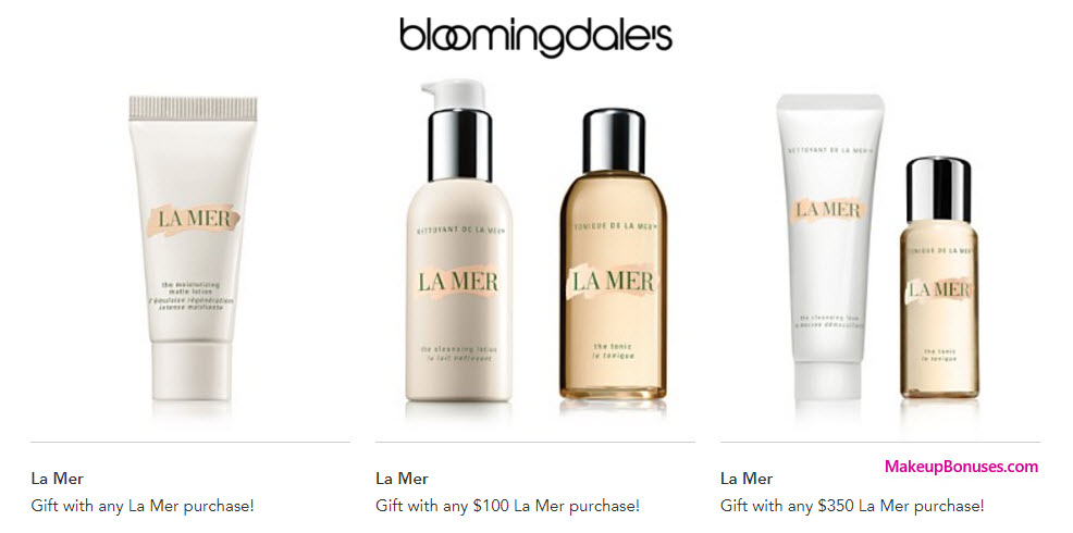 Receive a free 4-pc gift with your $350 La Mer purchase