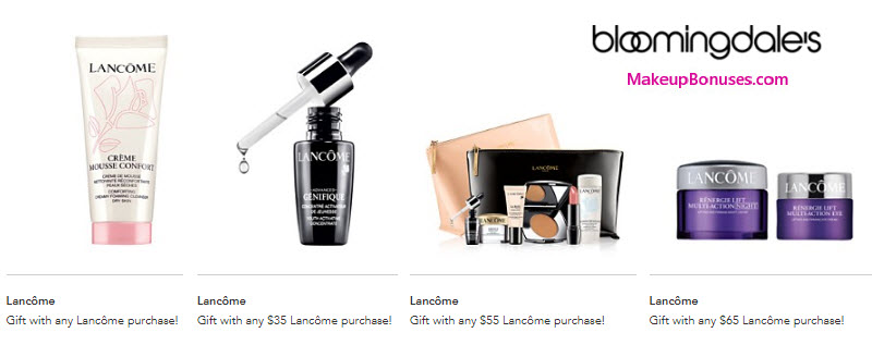 Receive a free 9-pc gift with your $55 Lancôme purchase