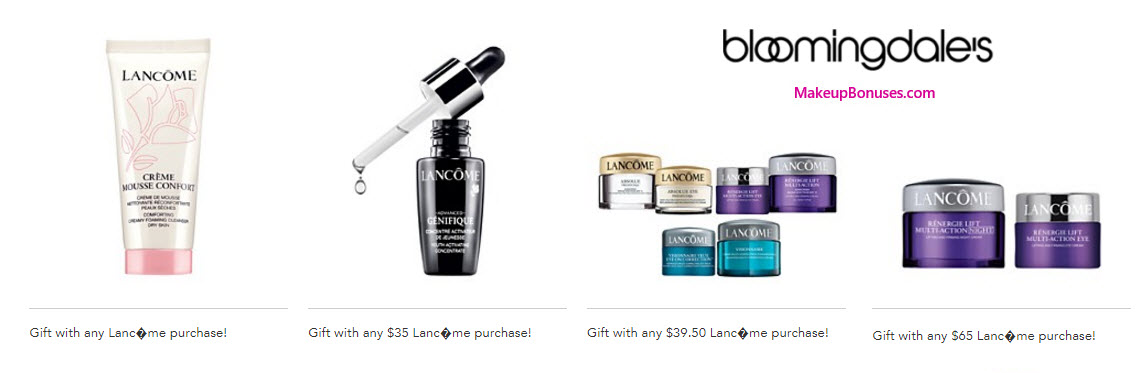 Receive a free 4-pc gift with your $39.5 Lancôme purchase