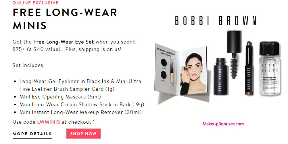 Chat online with a Bobbi Brown makeup artist for advice and inspiration, or check out the products for your big day with the Bobbi Brown Bridal makeup line. Look great and feel flawless with savings on high-quality cosmetics when you buy online using Bobbi Brown online coupons.