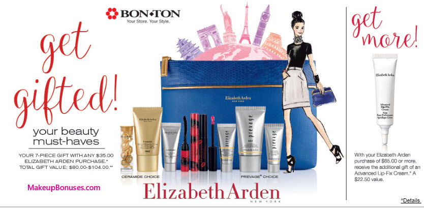 Receive your choice of 7-pc gift with your $35 Elizabeth Arden purchase