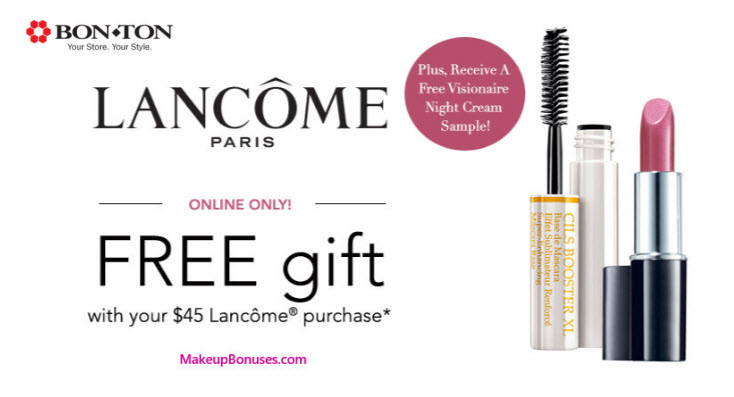 Receive a free 3-pc gift with your $45 Lancôme purchase