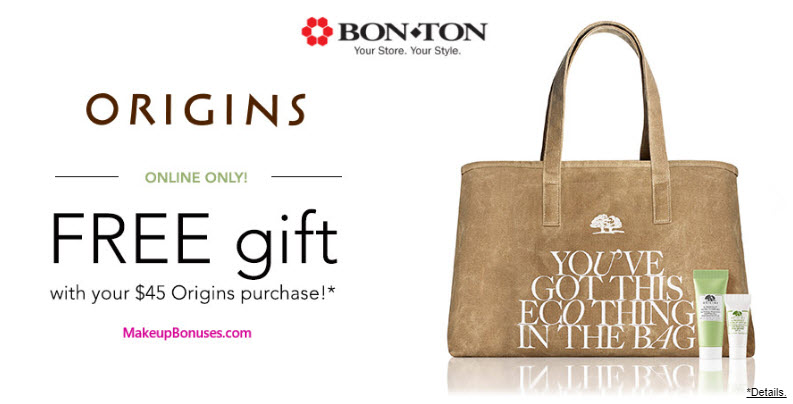 Receive a free 3-pc gift with your $45 Origins purchase