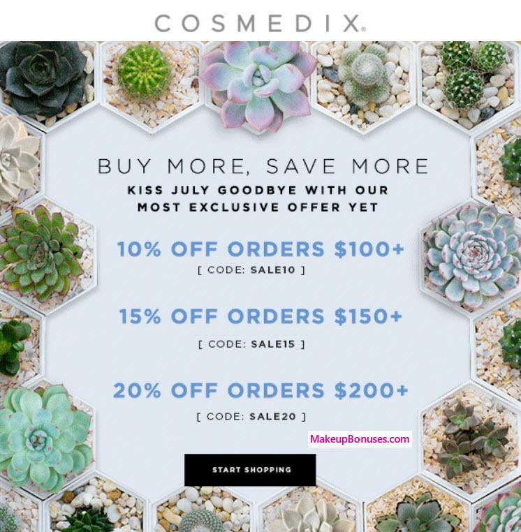 COSMEDIX Sale - MakeupBonuses.com