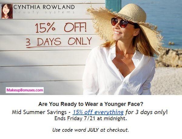 Cynthia Rowland Sale - MakeupBonuses.com