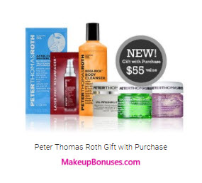 Receive a free 6-pc gift with your $60 Peter Thomas Roth purchase