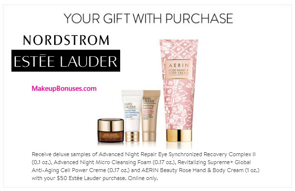 Estée Lauder Free Gift with Purchase - MakeupBonuses.com